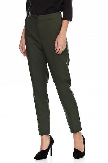 Купить брюки женские зеленые классические. Деловая женская одежда фото