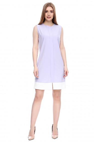 Платье легкое фиолетовое Деловая женская одежда фото