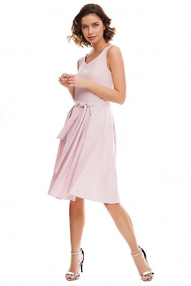 Купить платье лиловое в складку Деловая женская одежда фото
