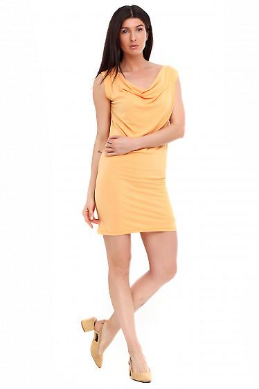 Платье с качелькой желтое. Деловая женская одежда фото
