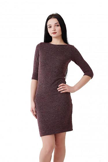 Купить платье сиреневое в черную лапку Деловая женская одежда фото