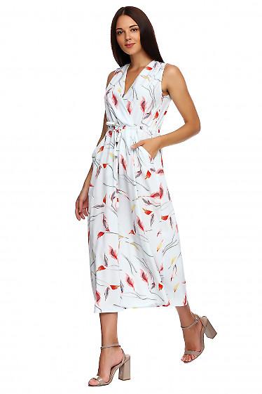 Купить платье в пол с защипами на плечах голубое. Деловая женская одежда фото