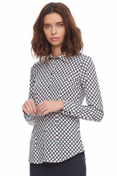 Купить женскую рубашку разноцветную. Деловая женская одежда фото