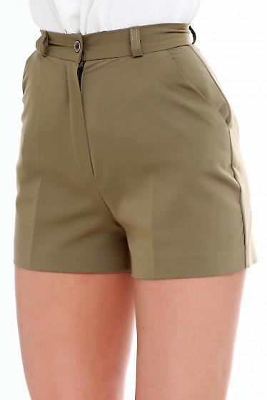 Купить шорты короткие зеленые. Деловая женская одежда фото
