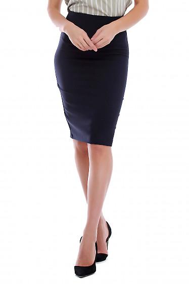 Юбка карандаш синяя деловая. Деловая женская одежда фото