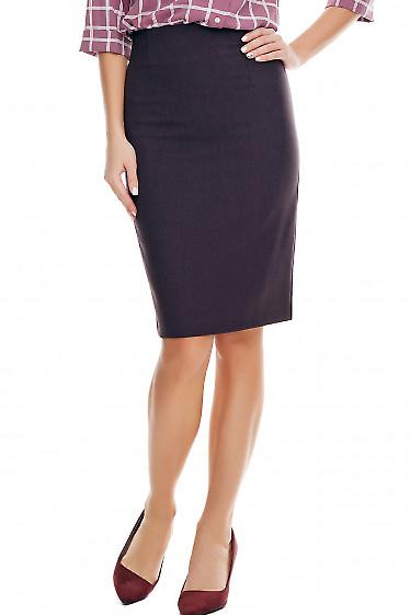 Юбка карандаш в клетку деловая Деловая женская одежда фото