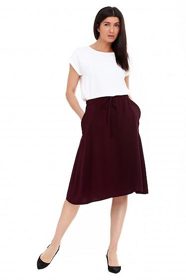Купить юбку миди летнюю на резинке. Деловая женская одежда фото