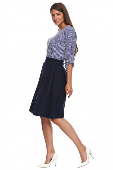 Пышная юбка темно-синего цвета