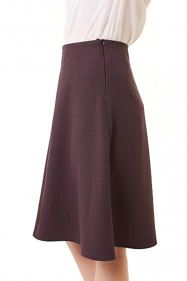Купить юбку трапецию в бордовую лапку Деловая женская одежда фото
