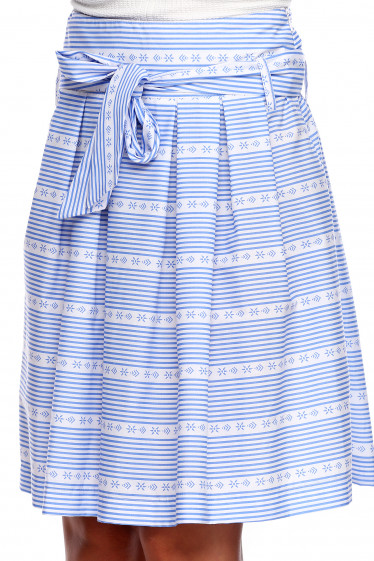 Юбка в горизонтальную голубую полоску. Деловая женская одежда