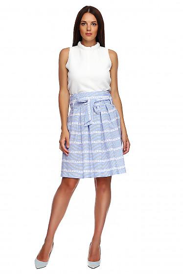 Купить юбку летнюю в полоску. Деловая женская одежда фото