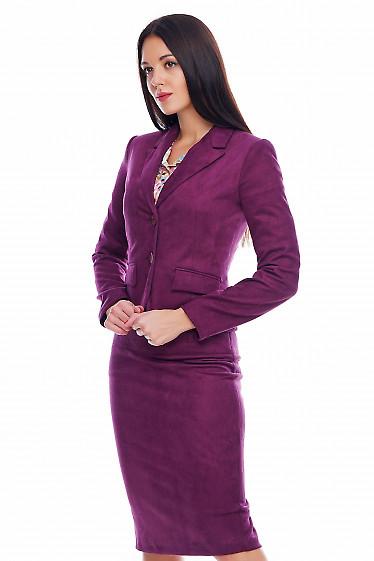 Жакет теплый цвета фуксия Деловая женская одежда фото