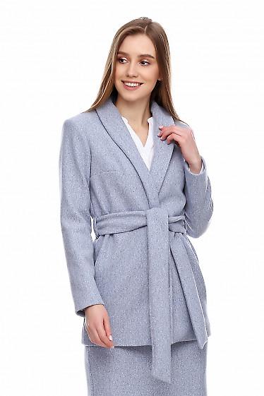 Купить теплый жакет под пояс. Деловая женская одежда фото