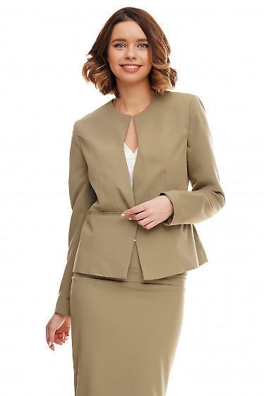 Купить жакет женский оливковый Деловая женская одежда фото