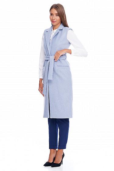 Длинная жилетка Деловая женская одежда фото