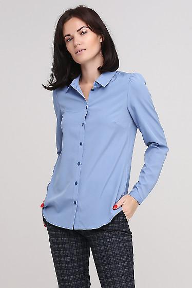 Блузка голубая Деловая женская одежда фото