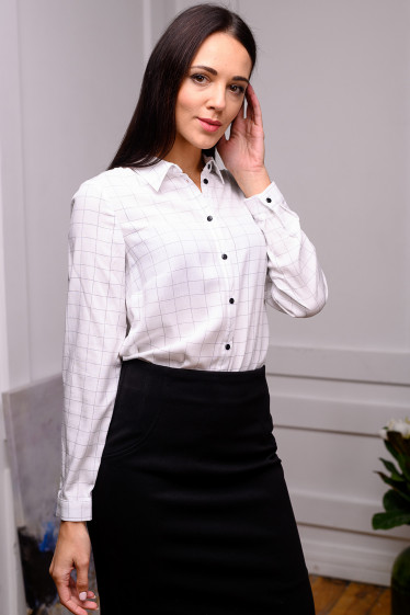 Женская хлопковая белая блуза