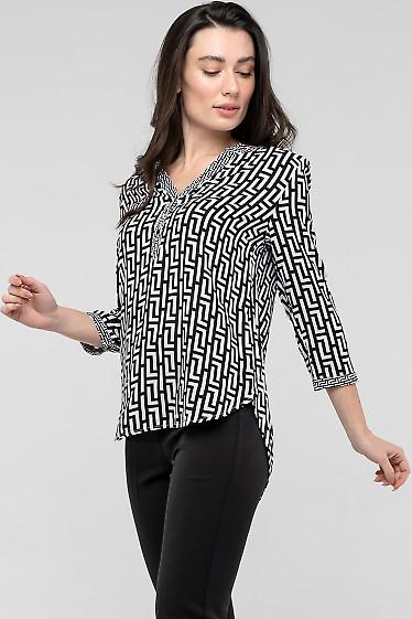 Черно-белая блуза