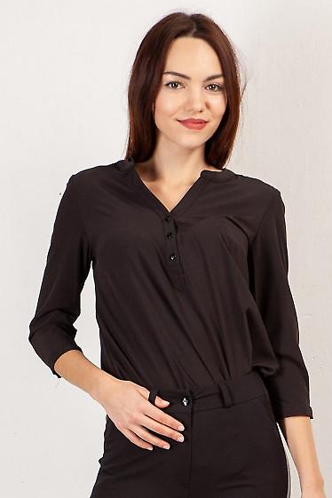Чорна жіноча блуза  фото