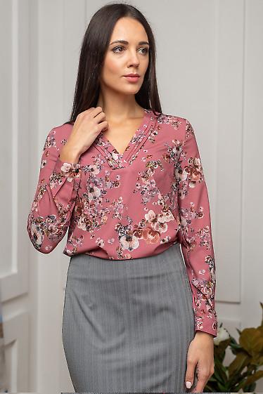 Блуза в цветы фото