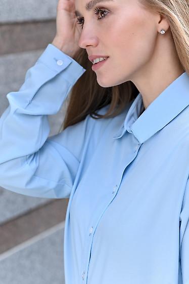 Блузка голубая  на каждый день фото