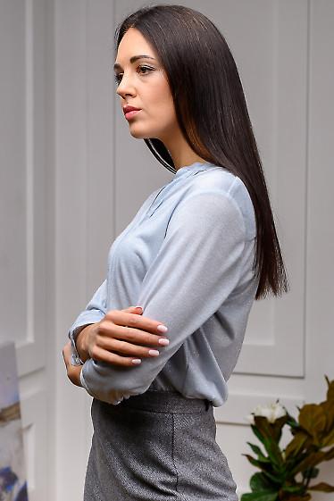 Голубая праздничная блузка фото