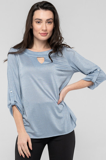 Блуза голубого цвета