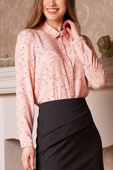 Розовая блуза из софта