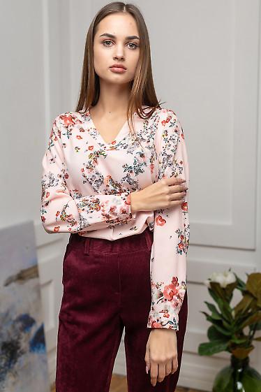 Блуза женская розового цвета