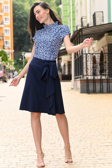 Женская синяя блузка фото