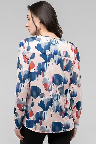 Трикотажная праздничная женская блузка в круги
