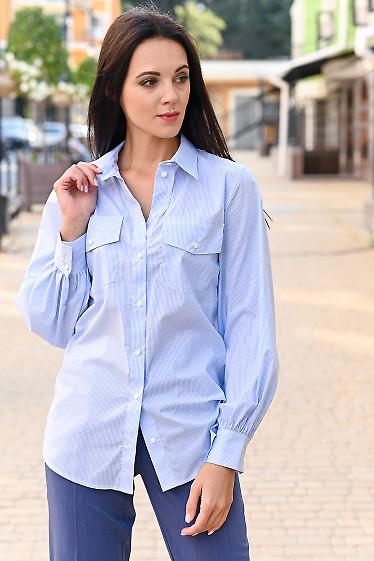 Блуза в клетку женская