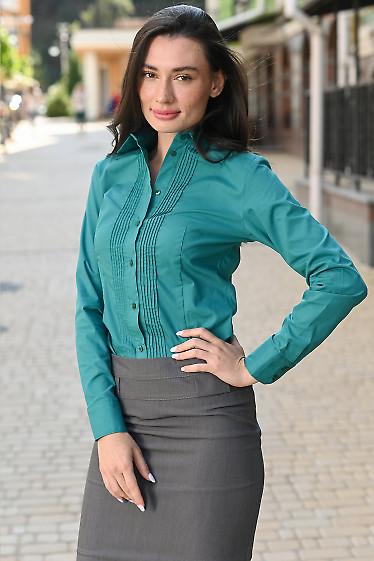 Зеленая женская блуза фото