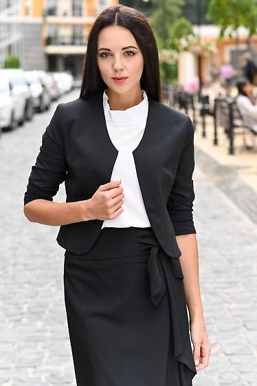 Болеро чёрное с присборенным рукавом. Деловая одежда
