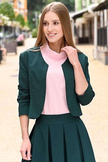 Болеро зелёное короткое. Деловая женская одежда