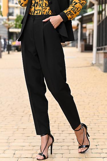 Женские брюки черного цвета фото