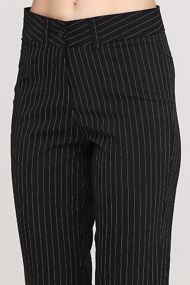 Брюки в черную полоску Деловая женская одежда фото