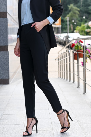 Укороченные брюки черные фото