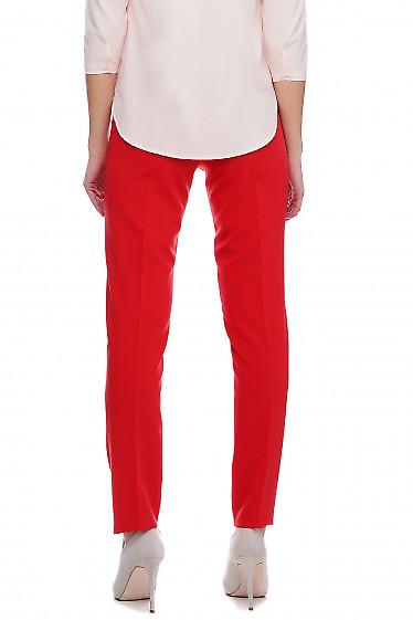 Женские брюки красного цвета