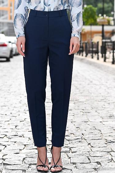 Брюки синие укорочённые. Деловая женская одежда