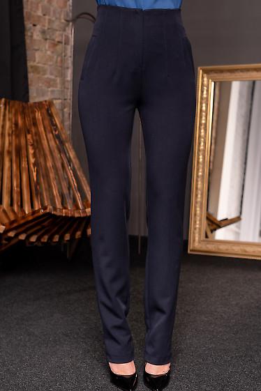Брюки синие женские без пояса. Деловая женская одежда