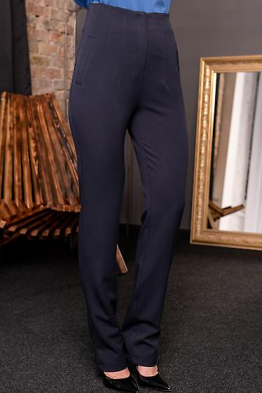 Синие брюки зауженные женские