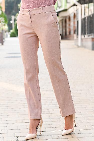 Теплые брюки в полоску