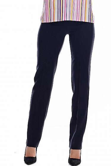 Брюки женские синие прямые от бедра. Деловая одежда