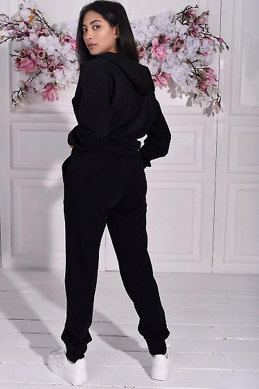 Черный трикотажный костюм