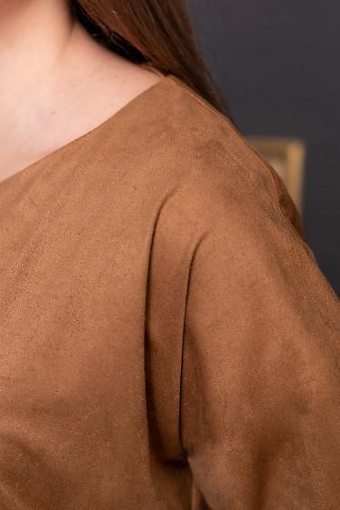 Кофта коричневая из замша