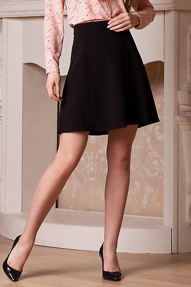 Купить короткую чёрнуюя юбку с кармашками. Деловая женская одежда фото