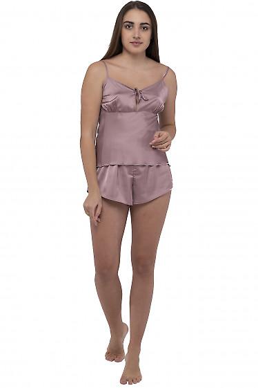 Пижама женская цвета мокко. Деловая женская одежда фото