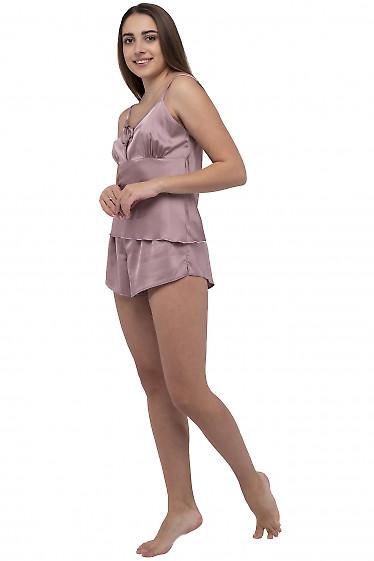 Пижама шелковая мокко