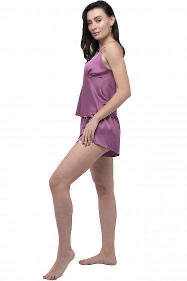 Фиолетовая шелковая пижама
